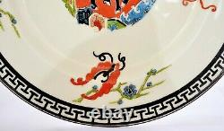 1929's English Royal Worcester Set of 5 Dinner Plate Chinese Style Stage & Crane