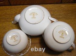 1930s Royal Worcester Tea Set Teapot Creamer Sugar The Dorchester Hotel