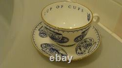 1995 Royal Worcester Cup & Saucer Set CUP OF CUPS, made in England