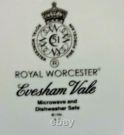 2 ROYAL WORCESTER EVESHAM VALE 5 PIECE PLACE SETTINGS UNUSED (Free Shipping)