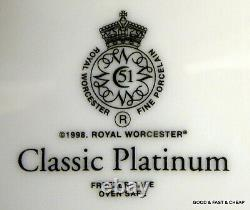 20 pcs ROYAL WORCESTER CLASSIC PLATINUM pattern 4 X 5 Piece Place Settings