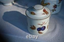 3 Piece Royal Worcester Evesham, Canister Set Large 9 1/2 tall, all with lids
