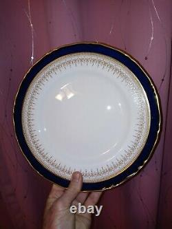 4-6 Piece. Setting Royal Worcester REGENCY Blue Fine China Dinnerware Dining Set