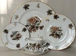 46 Pc Royal Worcester China Service for 8 Dorchester 5 Pc Place Setting Fall +++