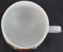 6 Pc. Royal Worcester Evesham Gold Gilt Porcelain Lidded Pot de Creme Set