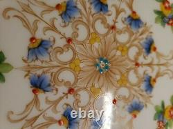 6-ROYAL WORCESTER Hand Painted Enamel SERVICE PLATES PATTERN NO Z697/1, Set #2