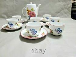 6 Set Of Royal Worcester Ashford Cup & Saucer & Tea Pot