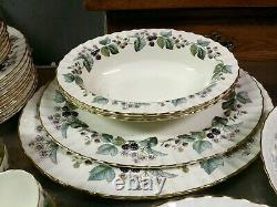 72 Piece Set Royal Worcester Lavinia Pattern Porcelain China, 12 Place Settings