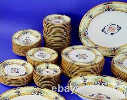 8 pc Serving SET Accessories Antique Royal Worcester Cordova Yellow Border NICE