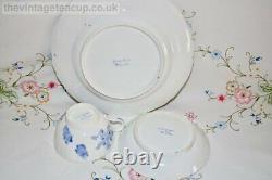 Antique Breakfast Set 1820s Grainger, Lee & Co Worcester bone china Blue Dragon