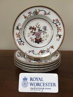 Antique Royal Worcester Chinoiserie RIM SOUP BOWL B66 c. 1877 Set of 5