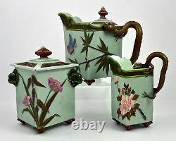 Antique Worcester 3 Piece Tea Set, Aesthetic Period