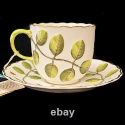 Blind Earl by Royal Worcester Tea Cup & Saucer Set Raised Motif made in England
