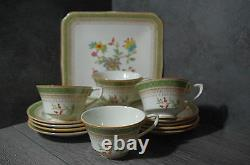 Fine set 4 porcelain Royal Worcester Cups & Saucers plate cake tray 13 pieces