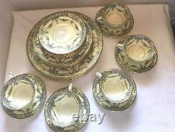 Five 5-Piece Place Setting Royal Worcester MARQUIS Z1393 (Early Version) VGC