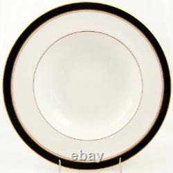 HOWARD BLACK Royal Worcester 4 Piece Place Setting NEW NEVER USED made England