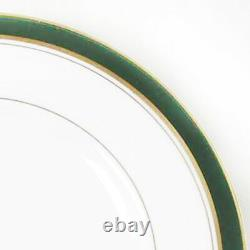 HOWARD LEATHER GREEN Royal Worcester 5 Piece Setting NEW NEVER USED made England