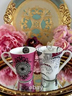 Laurence Llewelyn Bowen LLB Royal Worcester Bone China Mugs Set X5 Bebe Arabesqu
