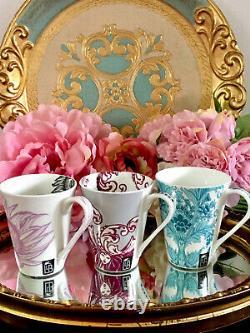 Laurence Llewelyn Bowen LLB Royal Worcester Bone China Mugs Set X9 Oscar Pisa