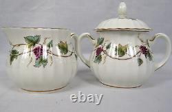 Lot 38 Royal Worcester Bacchanal Bone China Tea Set Cup Saucer Plate Cream Sugar