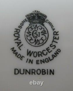 Lot of 8 Royal Worcester China DUNROBIN Cream Soup & Saucer sets EX