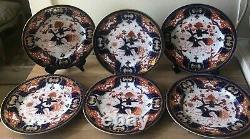 Lovely Set of 6 Chamberlain's Worcester Imari Dinner Plates