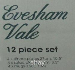 New Old Stock Royal Worcester Evesham Vale 12 Piece Set