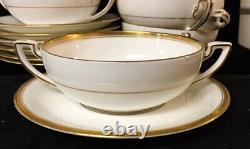 Nice Royal Worcester Viceroy Gold Trim 7 Sets Cream Soup & Saucers