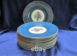 Outstanding Set 12 Royal Worcester Bone China Service for Ovington, Cobalt Blue