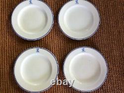 RARE SET OF FOUR Royal Worcester ARMORIAL/HERALDIC DINNER PLATES, 10