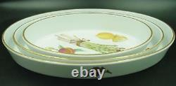 ROYAL WORCESTER Evesham Gold Oval Bakers (Set of 3). MINT. FREE Shipping