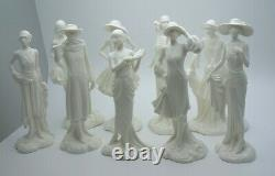 ROYAL WORCESTER THE 1920's VOGUE COLLECTION SET OF NINE FIGURES PERFECT