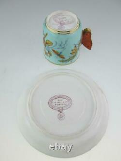 Rare Antique 19th Century Tiffany New York Royal Worcester Cup Set Circa 1880