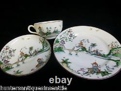 Rare Circa 1922 Royal Worcester Set With Oriental Motif Design Number W9883