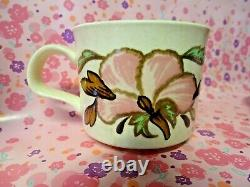Rare Retro Pink Themed 60s 70s Royal Worc Palissy Kismet 6 Person Coffee Set