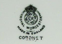 Rare! Royal Worcester Coronet 60 Pc / 5 Pc Pl Setting Service For 12 Black Mark