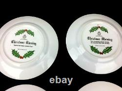 Rare Set Royal Worcester Christmas Plate From 1979 Boxed Collectable Porcelain
