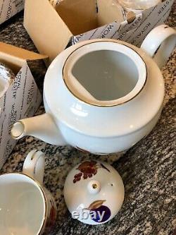 Royal Orchester Evesham Gold Mug & Teapot Set Free Shipping