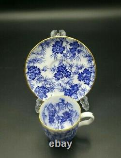 Royal Worcester 1930's Blue and White Gold Gilded Part Coffee Set- Very Good