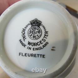 Royal Worcester Bone China Fleurette Service for Four 20pc Set