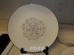Royal Worcester Bridal Lace 38 Piece Set Dinner Plates Salad Cups Fine Bone