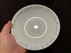 Royal Worcester Bridal Lace Coupe Soup Bowls Set of 12 7 1/2 Diameter