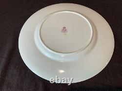 Royal Worcester C2717 Gold Encrusted Red Flower Dinner Plates 10 1/2 Dia Set 4