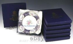 Royal Worcester CHAMBERLAIN'S ROSE 8 ACCENT SALAD PLATES Unused Set of 6 Boxes