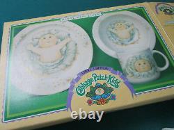 Royal Worcester Cabbage Patch Kids Child Dinnerware Bowl Plate Mug 3 PC Set orig