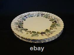 Royal Worcester China Lavinia White Set of 4 Dinner Plates