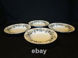 Royal Worcester China Lavinia White Set of 4 Rimmed Soup Bowls