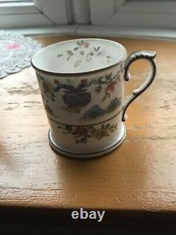 Royal Worcester China Pekin 14 PC Tea Set Blue Butterfly