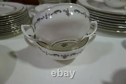 Royal Worcester China Silver Chantilly 1963 Over 80 Pieces China Set, Some Bnip
