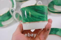 Royal Worcester Cup Saucer Plate Trio Malachite Set of 6
